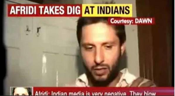 Afridi Slams Indian Media And Cricketers