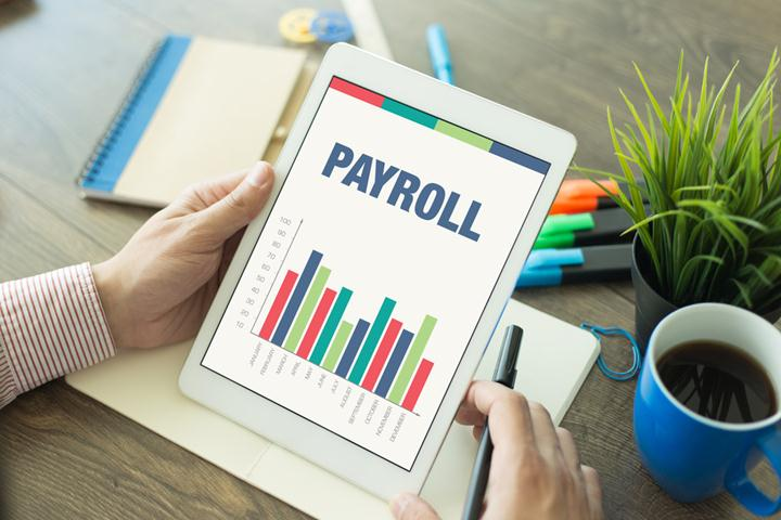 Business Graphs and Charts Concept with PAYROLL word